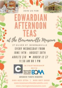 Fancy an Afternoon Tea at Clarington Museums?