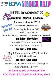 BOAA Summer Draw Tickets Available!