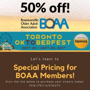 "BOAA Members Get DISCOUNTED Tickets for ""Toronto Oktoberfest"""