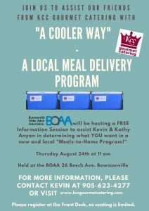 "BOAA Partners with KCC Gourmet Catering for ""A Cooler Way"""
