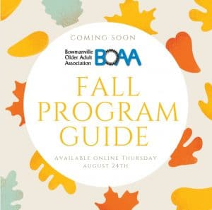 BOAA Fall Programs – Coming SOON!