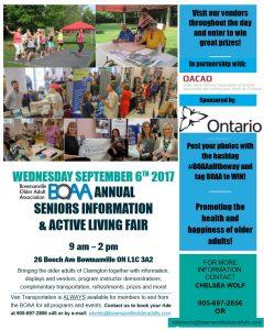 BOAA Open House & Health Fair – Wednesday September 6th