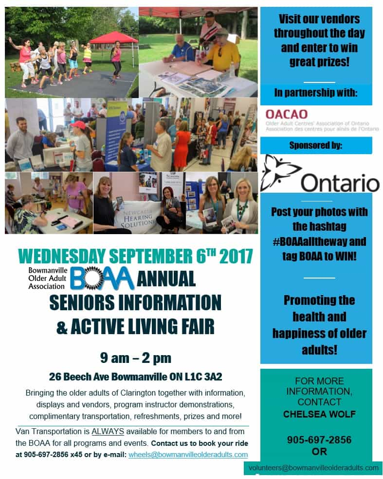 BOAA Open House & Health Fair – Wednesday September 6th