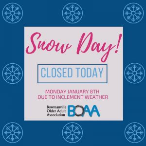 BOAA Closed Due to Inclement Weather – Monday January 8th