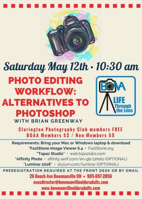 BOAA & Life Through the LENS Photo Editing Workshop