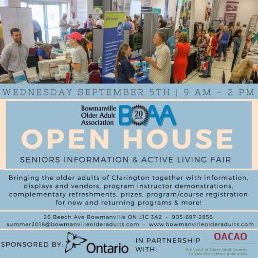 BOAA Open House & Health Fair – TOMORROW!