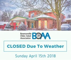 BOAA CLOSED Due to Weather – Sunday April 15th