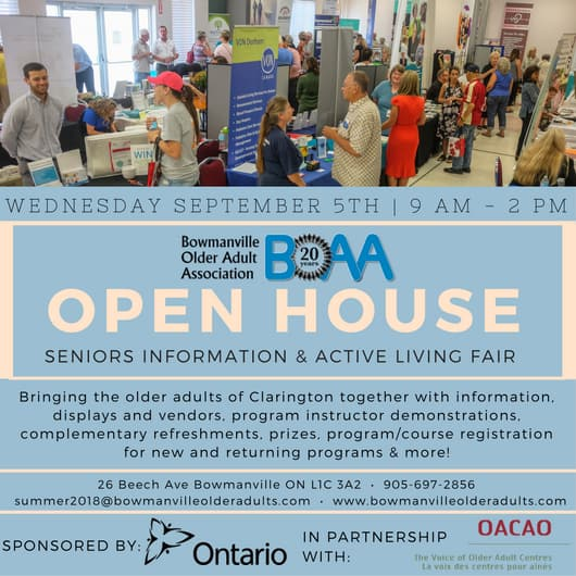 Mark your calendars for BOAA Open House, Registration & Health Fair!