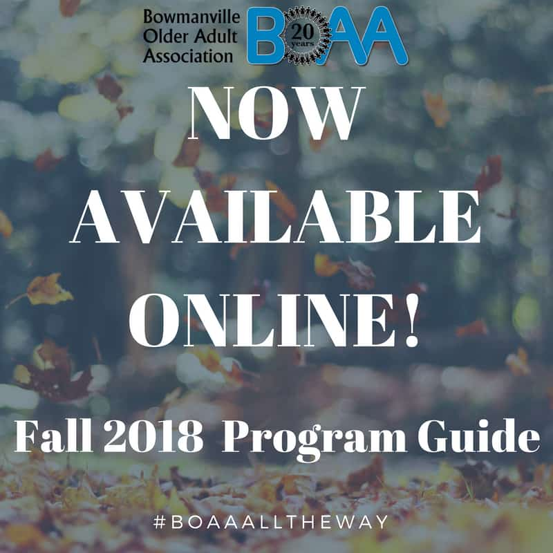 BOAA FALL 2018 Program Guide NOW Available ONLINE!