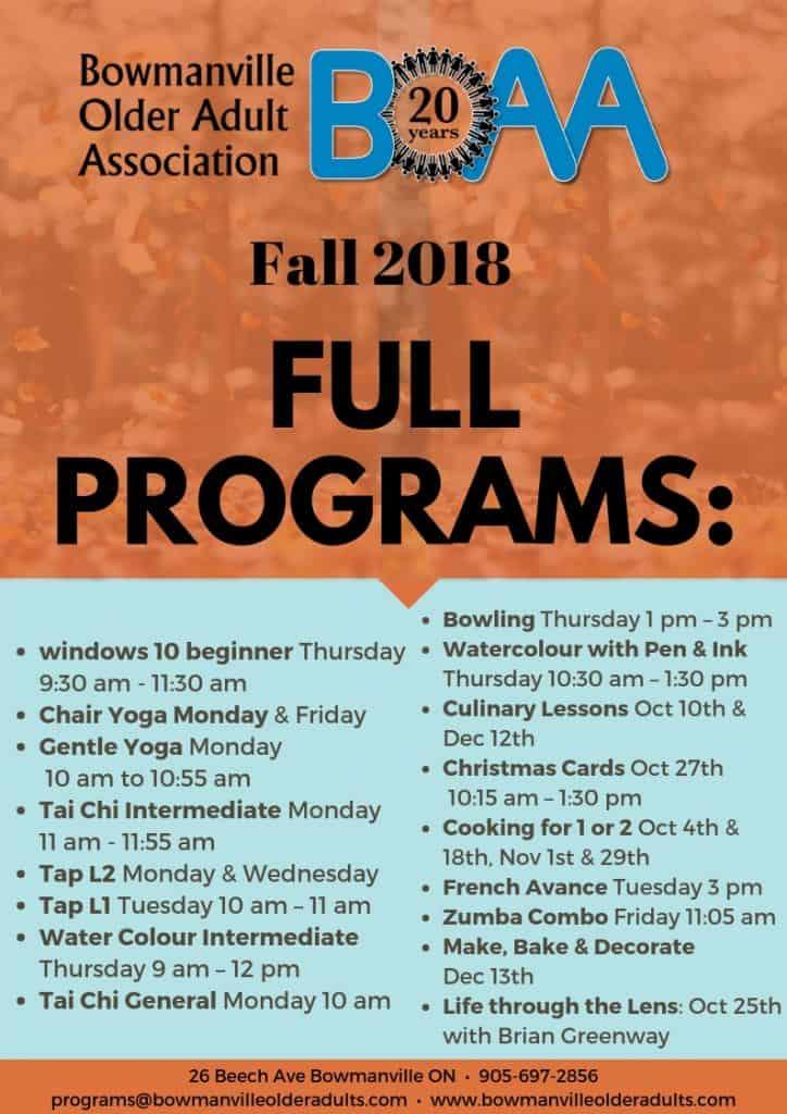 BOAA Fall FULL Programs