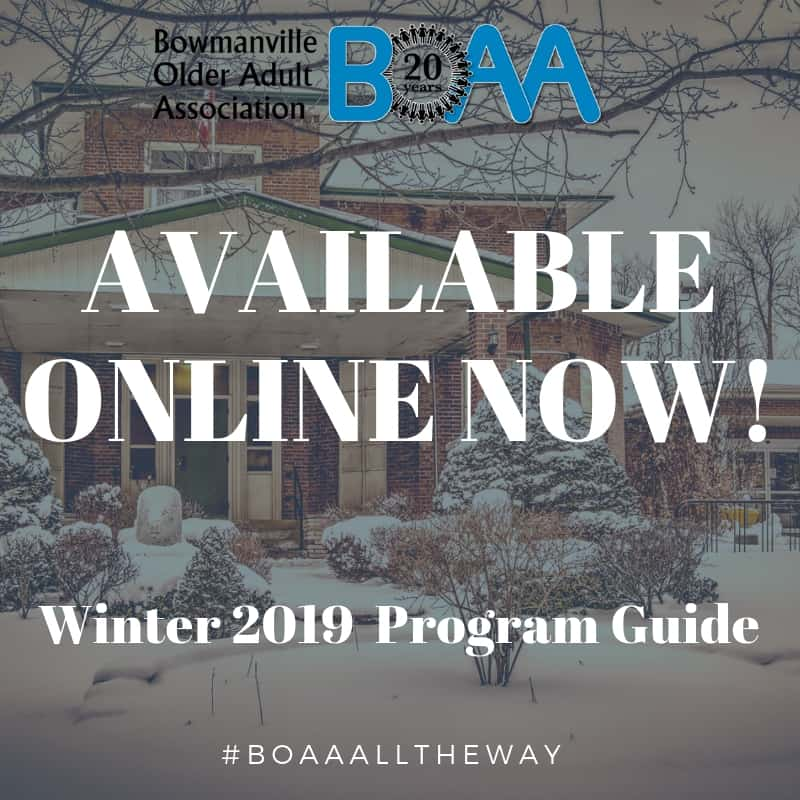 BOAA Winter Program Guide AVAILABLE ONLINE NOW!