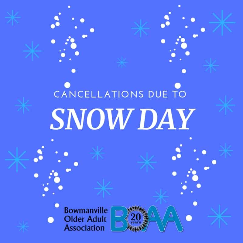 BOAA Program Cancellations Due to Weather – November 16th
