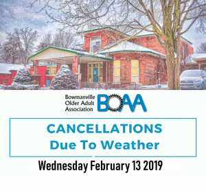 Weather Policy in Effect for Wednesday February 13 2019