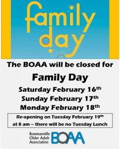 Read more about the article BOAA Family Day Closure