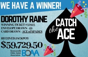 BOAA CATCH THE ACE DRAW WON – February 27th 2019!