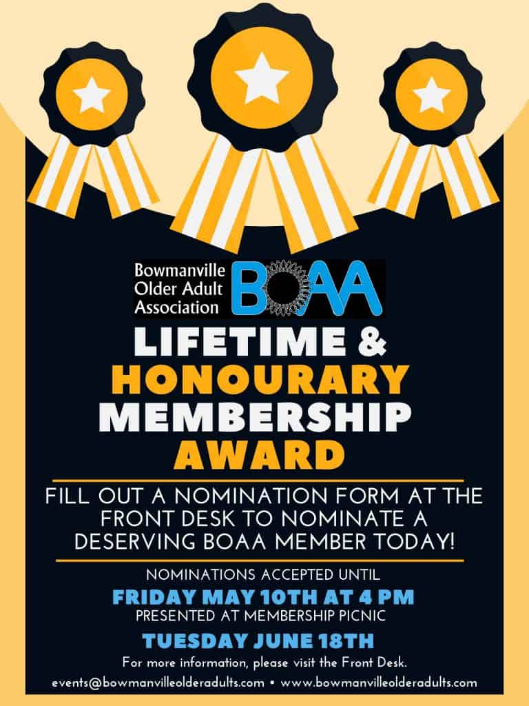 Nominate a deserving BOAA member today!