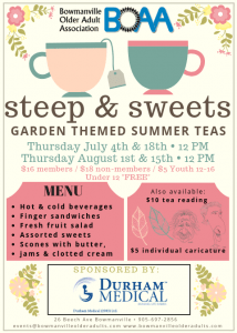 BOAA Steep & Sweets Summer Tea Parties – COMING SOON!