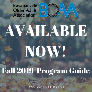 BOAA FALL Program Guide NOW AVAILABLE ONLINE!