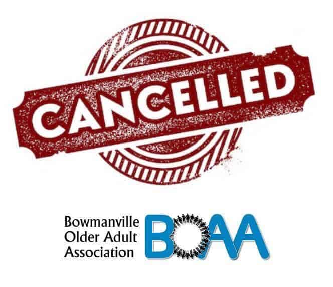 BOAA Cancellations – Friday March 13th 2020