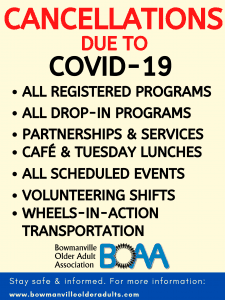 BOAA Cancellations due to COVID-19