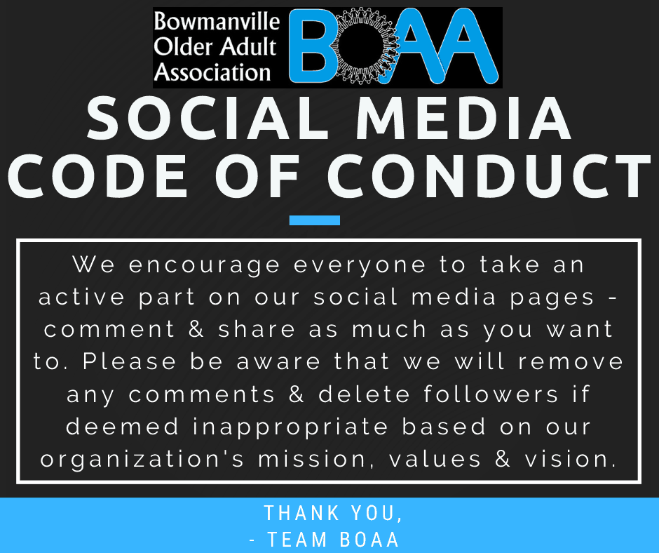 BOAA Social Media Code of Conduct