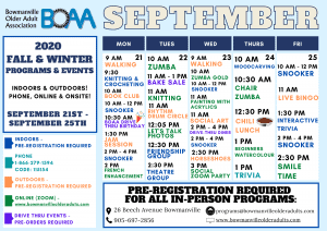 BOAA's NEW 2020 Fall & Winter Programming – WEEK 2!