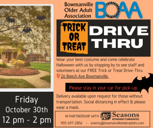 BOAA Trick-or-Treat DRIVE-BY🎃 – Friday October 30th 12 pm to 2 pm