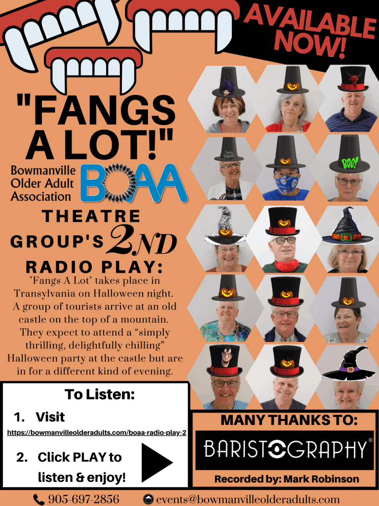 BOAA's 2nd RADIO PLAY for Halloween – CLICK HERE TO LISTEN!