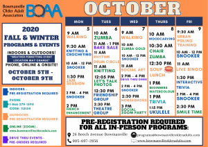 BOAA's NEW 2020 Fall & Winter Programming – WEEK 4!