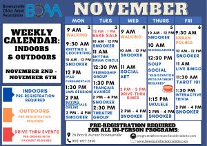 BOAA's NEW 2020 Fall & Winter Programming – WEEK 8!