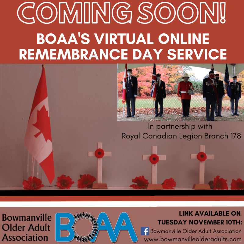 "Remembrance Day with the BOAA – ""We will remember them"""