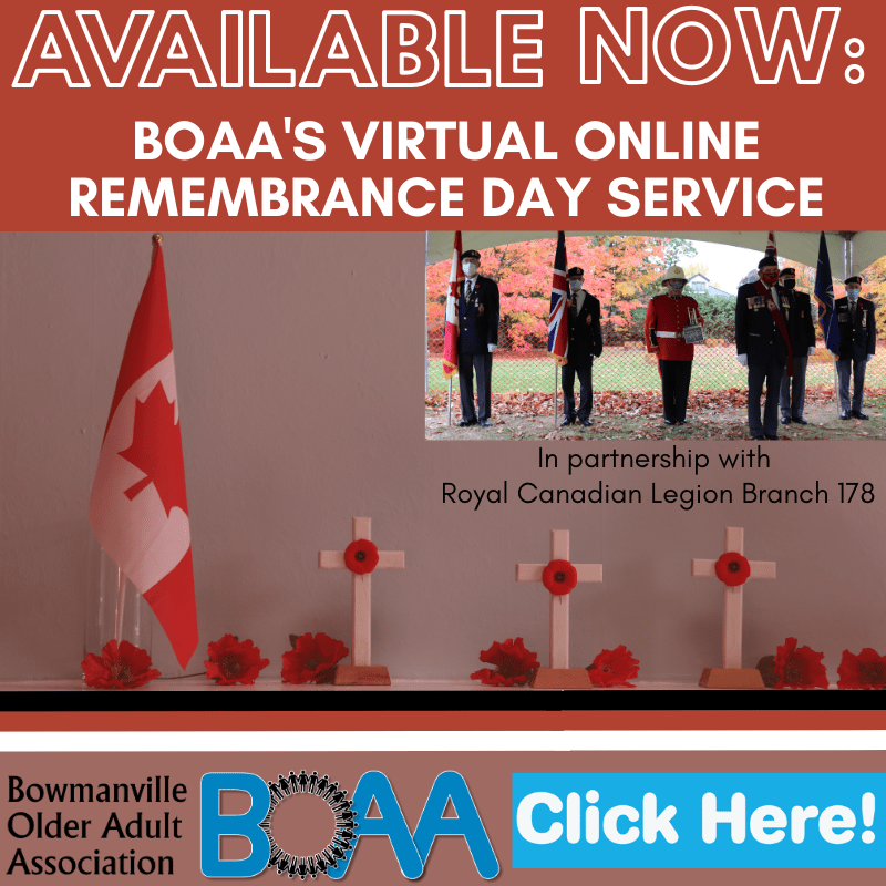 AVAILABLE NOW: BOAA's Online Remembrance Day Service with Branch 178