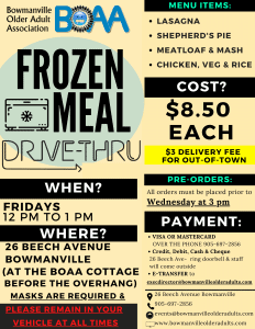 BOAA Drive-Thru Meals Jan 26th-29th – ORDER NOW!