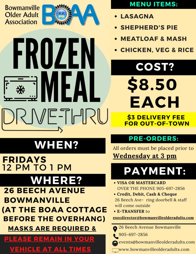 BOAA Drive-Thru Meals Jan 26th-29th – ORDER NOW!