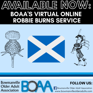 AVAILABLE NOW: BOAA's Online Robbie Burns Service 🎥