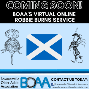 Robbie Burns Day with the BOAA – GOING VIRTUAL! 🎥