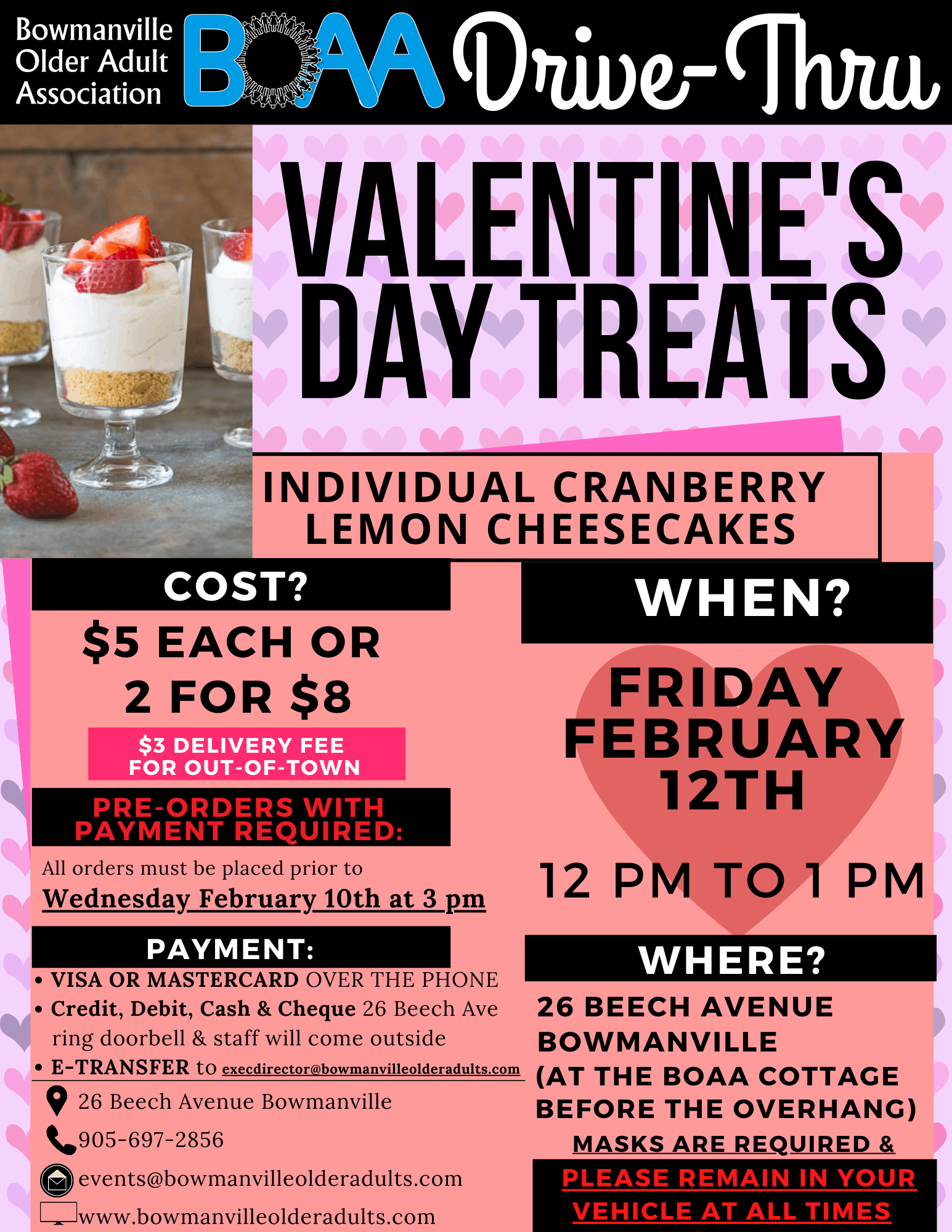 NEW BOAA'S DRIVE-THRU Valentine's Treats – Friday February 12th!💝