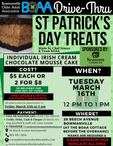 Read more about the article St Patrick's Day Drive-Thru TREATS – ORDER NOW!🍀