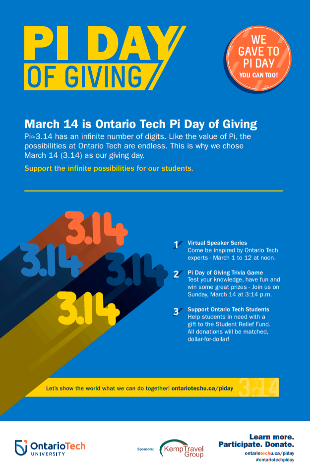 Check out Ontario Tech University PI DAY & Age-Friendly University Initiatives!