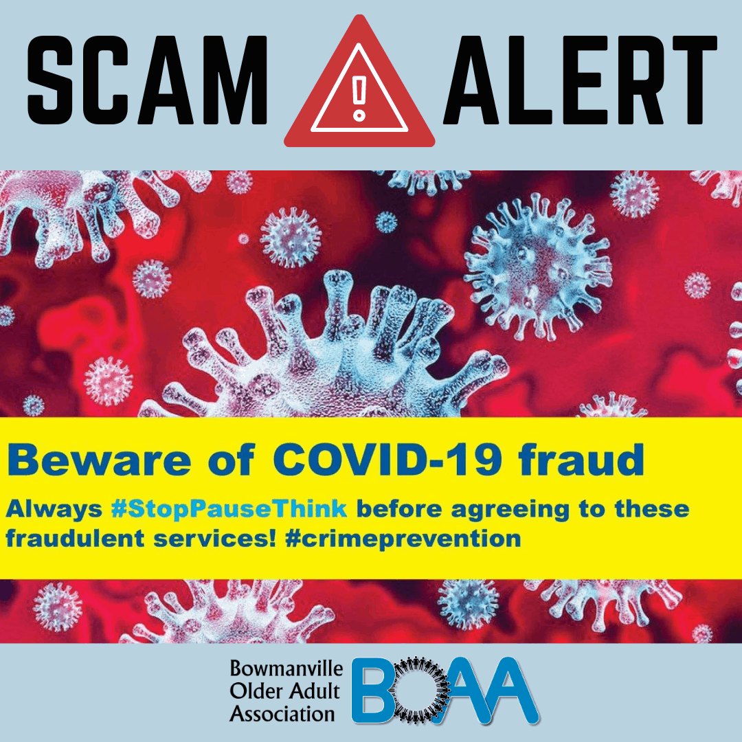 PROTECT YOURSELF & BE AWARE of COVID-19 Frauds & Scams