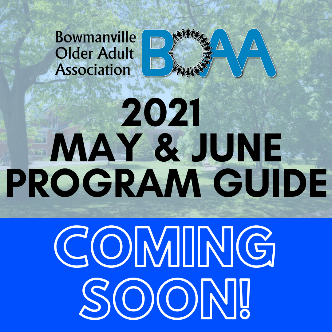 COMING SOON: May & June 2021 Programs & Events!